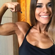 Teen muscle girl Fitness girl Beatriz