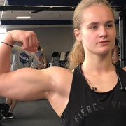 Teen muscle girl Fitness girl Cath