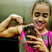 Teen muscle girl Gymnast Christal