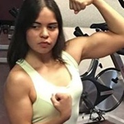 Teen muscle girl Fitness girl Claudia