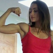 Teen muscle girl Fitness girl Giulia