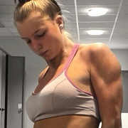 Teen muscle girl Fitness girl Julia
