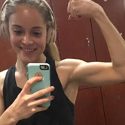 Teen muscle girl Fitness girl Kat