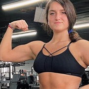 Teen muscle girl Fitness girl Klaudia