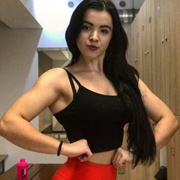 Teen muscle girl Fitness girl Kristina
