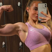 Teen muscle girl Fitness girl Melisa