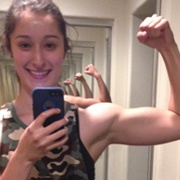Teen muscle girl Fitness girl Olivia
