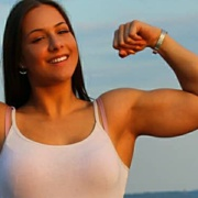 Teen muscle girl Fitness girl Takia