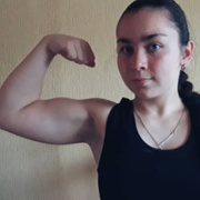 Teen muscle girl Fitness girl Viktoria