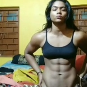 16 years old Fitness girl Suprity Flexing Abs