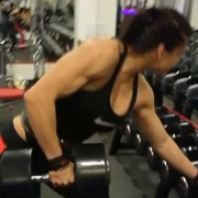 16 years old Fitness girl Tifani Workout muscles