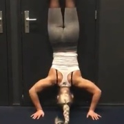 17 years old Fitness girl Guusje Workout muscles