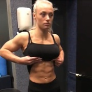 17 years old Fitness girl Guusje Flexing Abs
