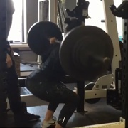 16 years old Fitness girl Maya Squat 215 lbs