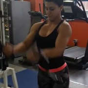 17 years old Fitness girl Giorgia Workout muscles