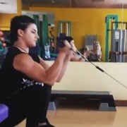 17 years old Fitness girl Giorgia Biceps workout