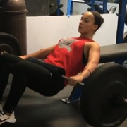 17 years old Fitness girl Maya Workout muscles