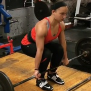 17 years old Fitness girl Maya Deadlifts