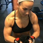 17 years old Fitness girl Maya Muscles