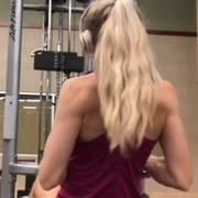 17 years old Fitness girl Kat Back workout