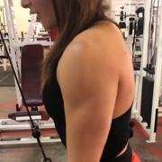 17 years old Fitness girl Serena Triceps workout