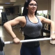 18 years old Fitness girl Elis Workout muscles