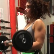 18 years old Fitness girl Serena Biceps curls