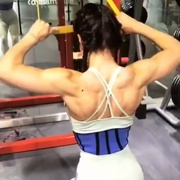 18 years old Fitness girl Beatriz Workout muscles