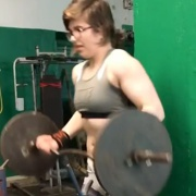 15 years old Fitness girl Karina Biceps curls